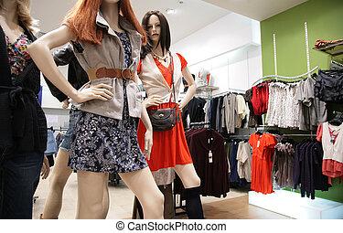 women`s mannequin in store 2