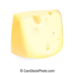 Realistic Cheese Vector Illustration