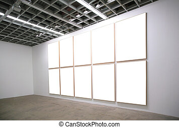 hall with white frames