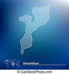 Map of Mozambique - vector illustration