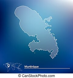 Map of Martinique - vector illustration