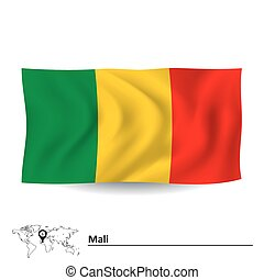Flag of Mali - vector illustration