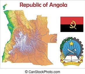 Angola map flag coat