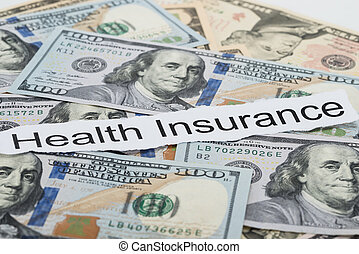 Health Insurance Text On Piece Of Paper