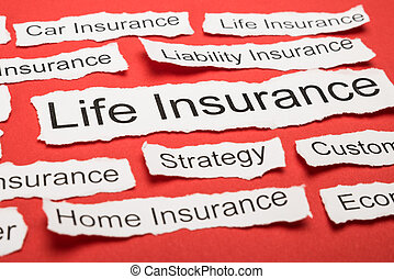 Life Insurance Text On Piece Of Torn Paper - Life Insurance...