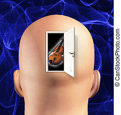 Door to mind reveals violin