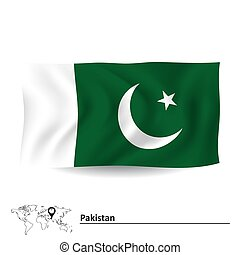 Flag of Pakistan - vector illustration