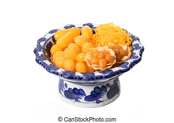 asian dessert ,made of bean-paste ,egg yoke fudge balls...