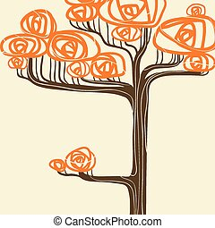 Beautiful autumn tree for your design. Vector illustration