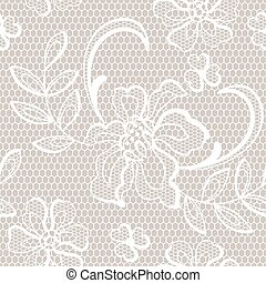 Old lace background, ornamental flowers.