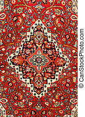 colorful indian carpet with delicate asian design