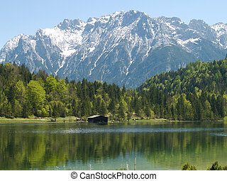 Mittenwald, bavaria, sea in the hil - sea in the hills