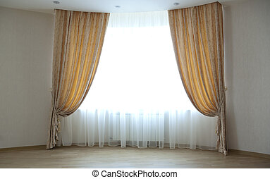 curtains - Large window with classical curtains