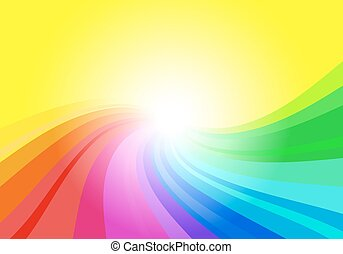 abstract rainbow colored background - vector illustration of...