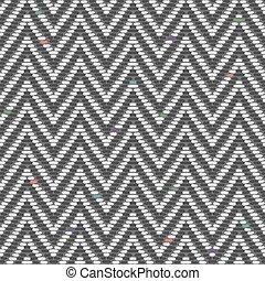 Herringbone Tweed pattern in greys repeats seamlessly.