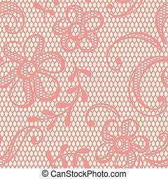 Old lace background, ornamental flowers. Vector texture