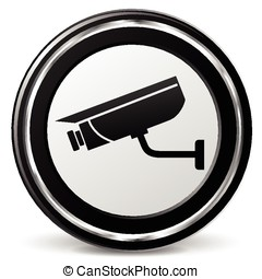 video camera icon with metal ring