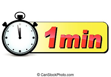 One Minute Stopwatch Clip Art