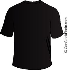 black back tee shirt - illustration of blank black back tee...