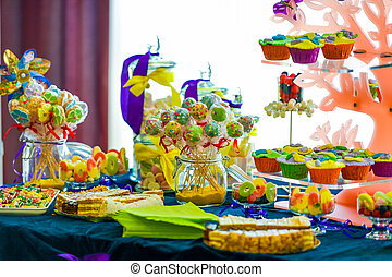 Amazing candy bar at wedding