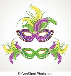 Mardi Gras carnival mask Vector illustration EPS 10