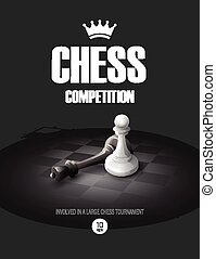 Winning Chess concept. Vector background EPS 10