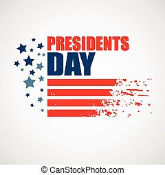 Presidents Day Vector Background USA Patriotic illustration