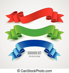 Set of vector ribbons