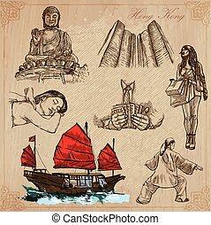 Hong Kong (vector illustrations pack no.1) - Travel. -...