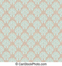 Seamless vintage pattern on old paper texture.