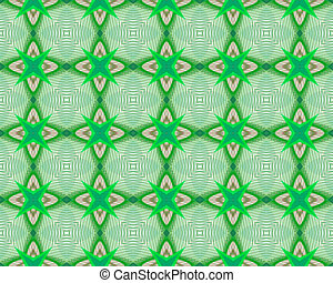 Kaleidoscope Green seamless pattern for Your Desing