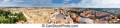Cityscape from  height, Saint Peter's Square