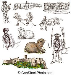 Travel: Slovakia Pack of full sized hand drawn illustrations...