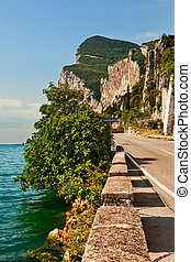 Garda Lake west coast, Italy.