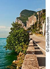 Garda Lake west coast, Italy.