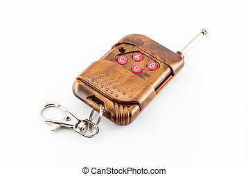 Brown Remote Control Key