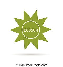 eco sun green vector