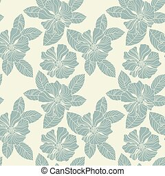 Seamless vintage wallpaper pattern. Abstract floral...