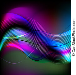abstract colorful background - Wavy colorful background...