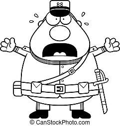 Scared Cartoon Union Soldier
