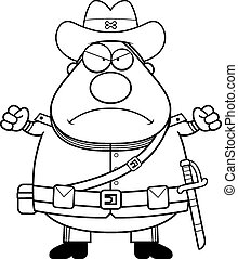 Angry Cartoon Confederate Soldier