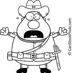Scared Cartoon Confederate Soldier