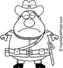 Sad Cartoon Confederate Soldier