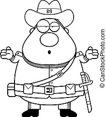 Confused Cartoon Confederate Soldier