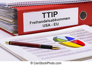 TTIP Transatlantic trade and investment partnership printed...