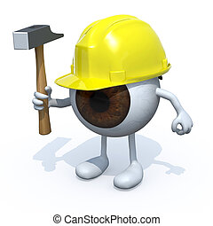 eyeball with arms, legs, worker - eyeball with arms, legs,...