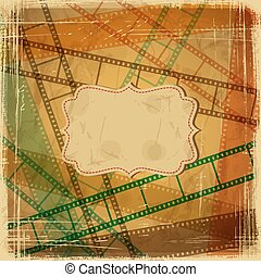 Vintage scratch background with film frame Vector Eps 10