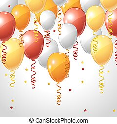 Background with balloons and serpentine. - Stylish...