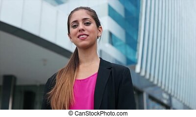 Portrait Confident Business Woman