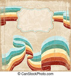 Vintage scratch background with place for text. Vector Eps...